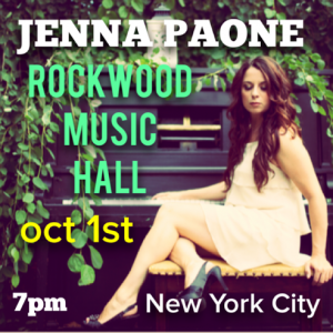 Rockwood Music Hall Oct 1 2014 Poster